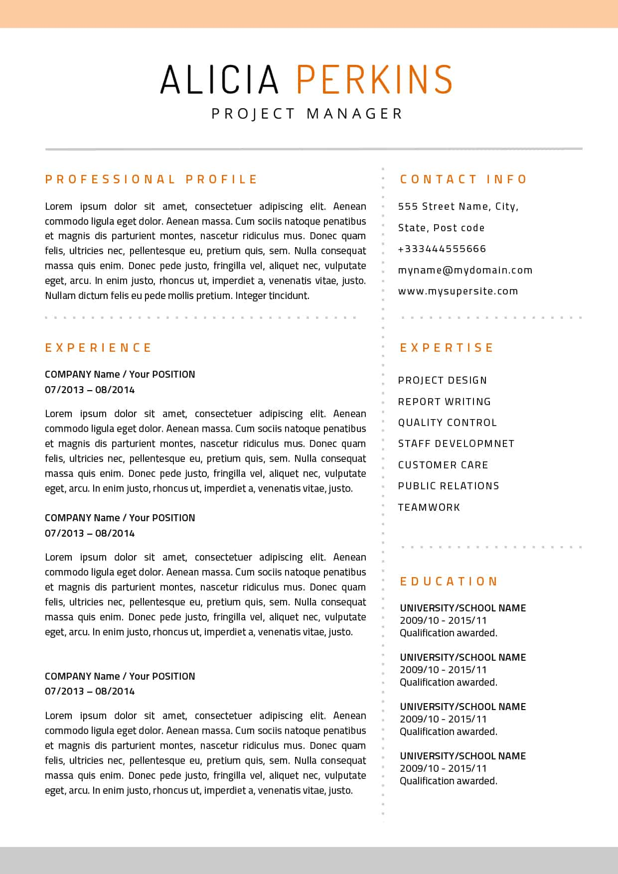 apple pages resume on etsy - Resume Template For Pages