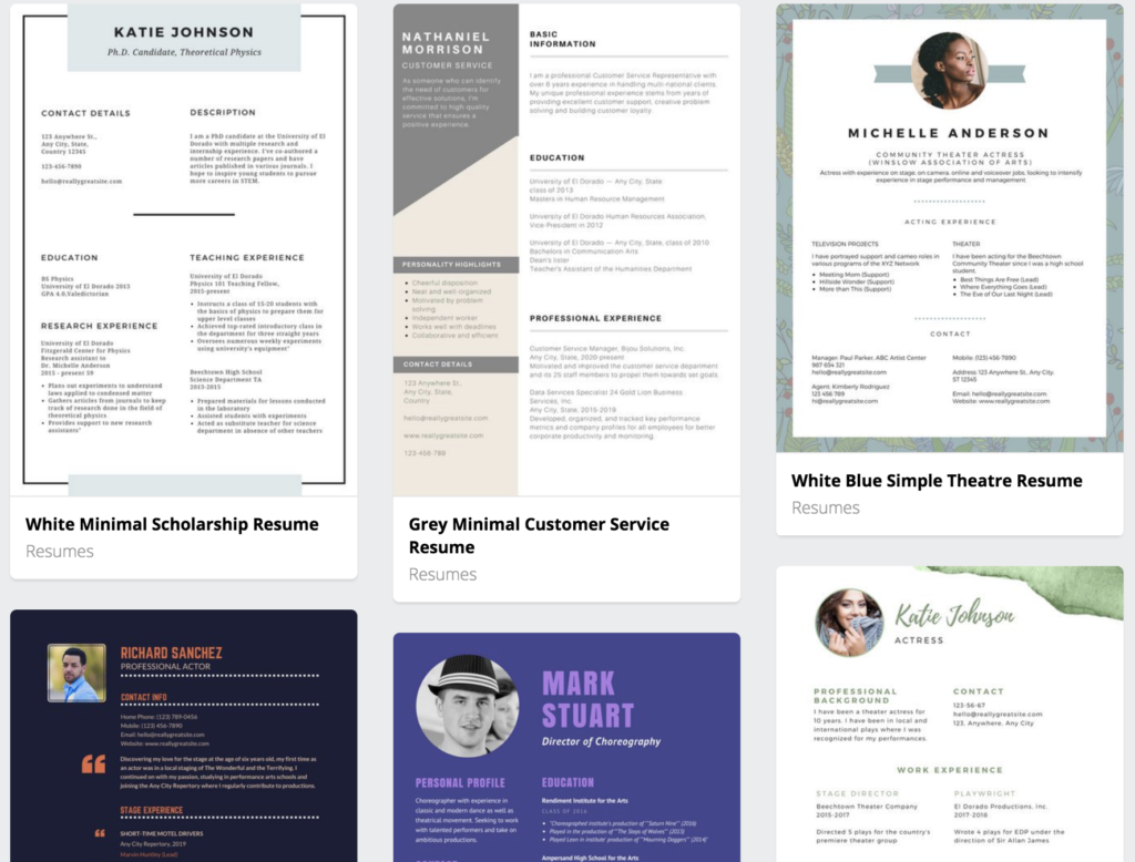 top 6 resume templates for mac hashthemes
