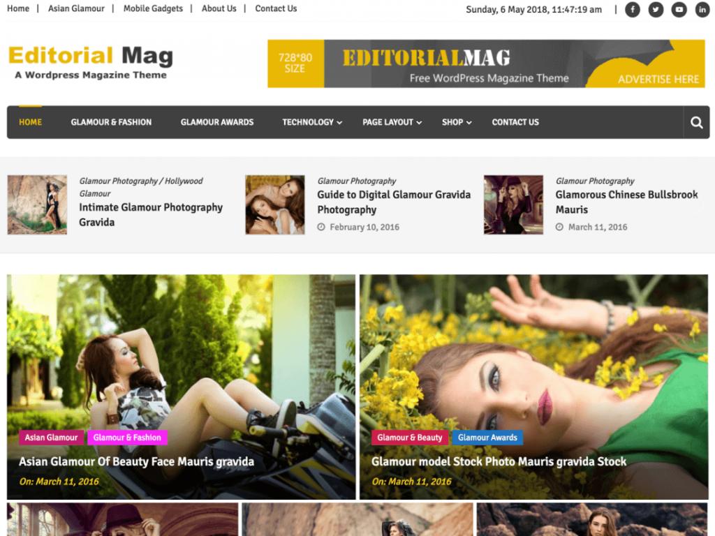 Editorialmag: WordPress Magazine Theme