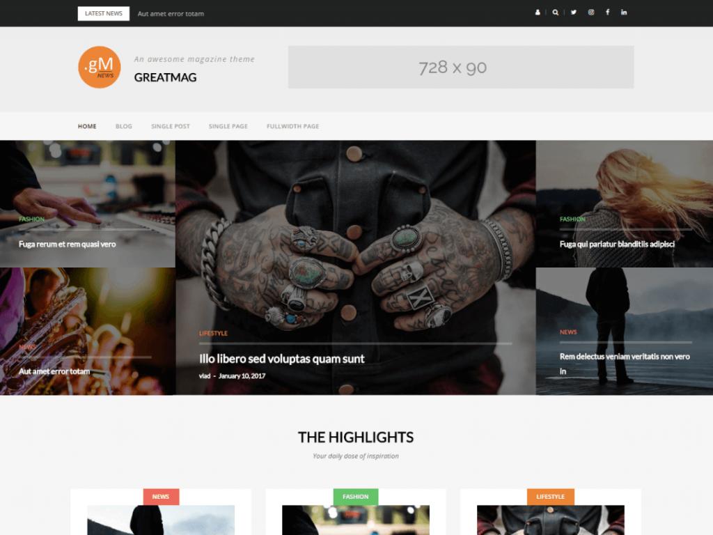 GreatMag: WordPress Magazine Theme