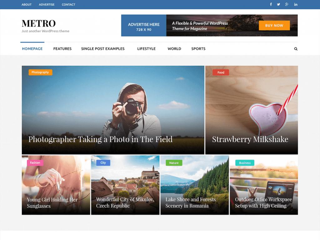 Metro Magazine: WordPress Magazine Theme