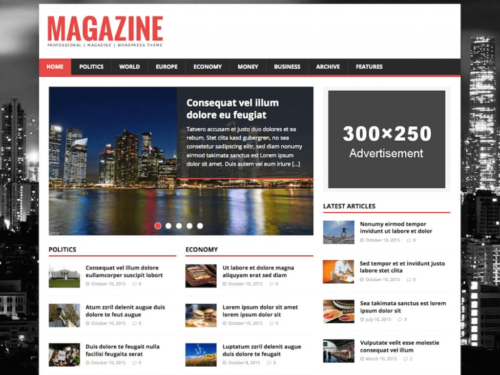MH Magazine Lite: WordPress Magazine Theme