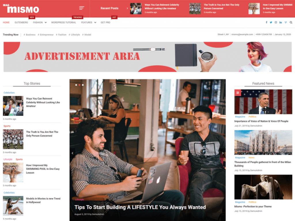 Mismo: WordPress Magazine Themes