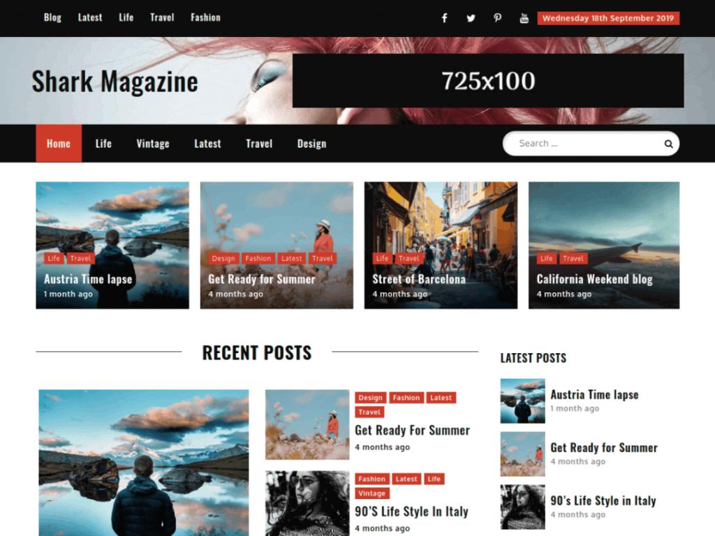 Shark Magazine: WordPress Magazine Themes