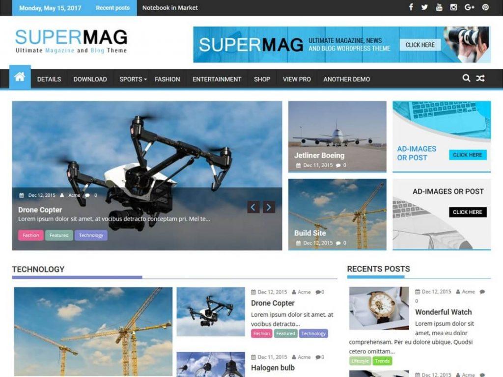 SuperMag: WordPress Magazine Theme