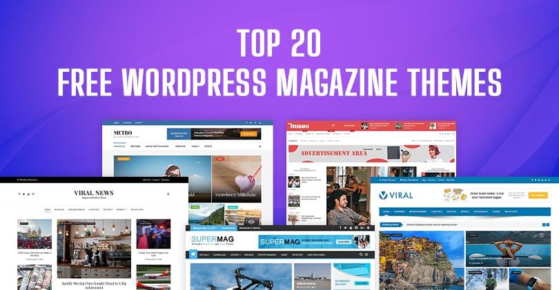 20+ Best Free WordPress Magazine Themes  2021