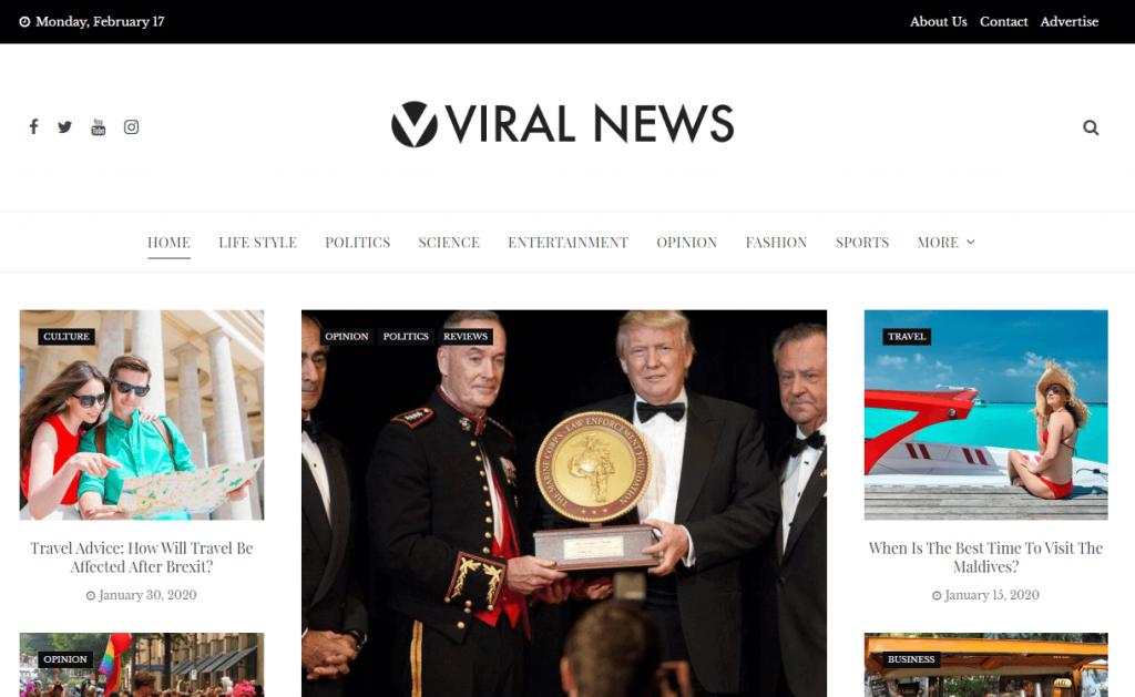 Viral News: WordPress Magazine Themes