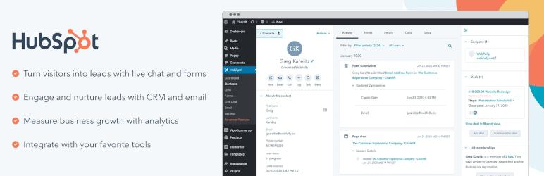Hubspot: WordPress Email Marketing Plugins