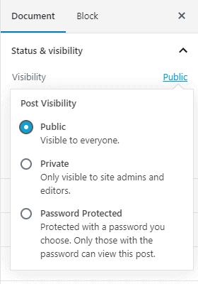 Create a Private Post in WordPress
