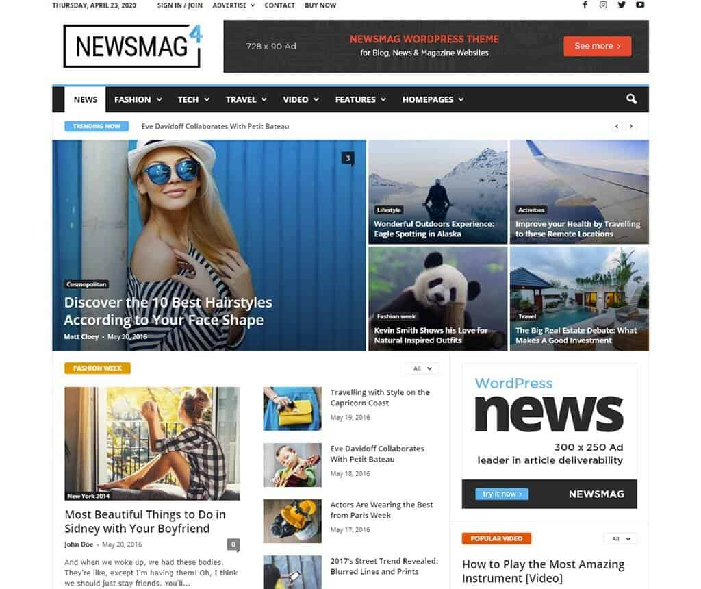 Newsmag - WordPress News Magazine Themes