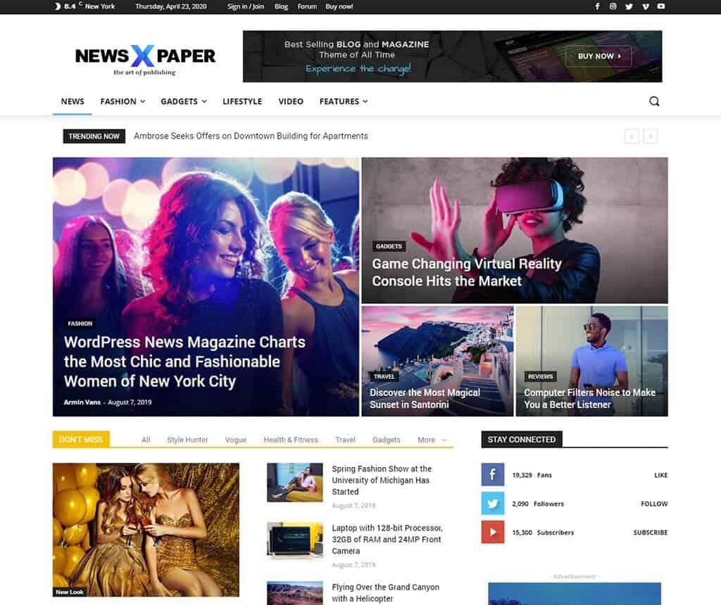 Newspaper - Premium WordPress Themes for News and Magazine