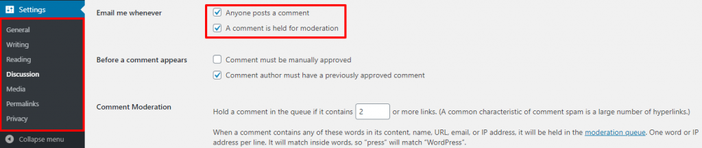 Turn Off Comments Notifications