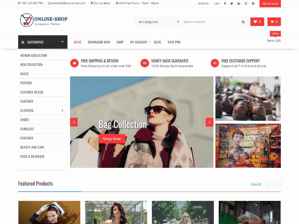 free WordPress eCommerce Themes