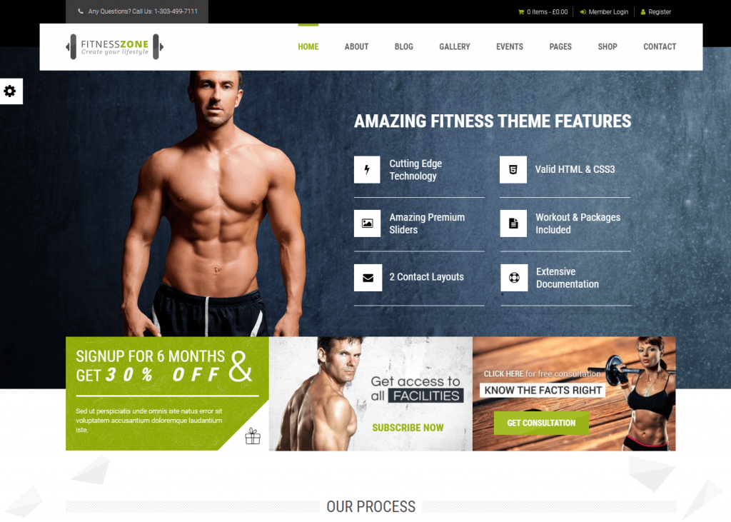 Fitness Zone: Best WordPress Themes for Gym and Fitness