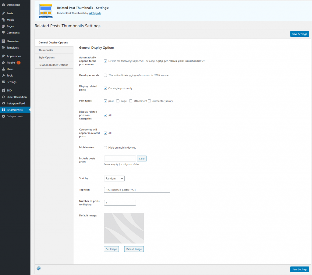 Display Related Post on WordPress