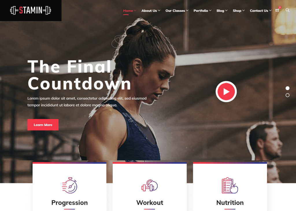 Stamin: Best WordPress Themes for Gym and Fitness