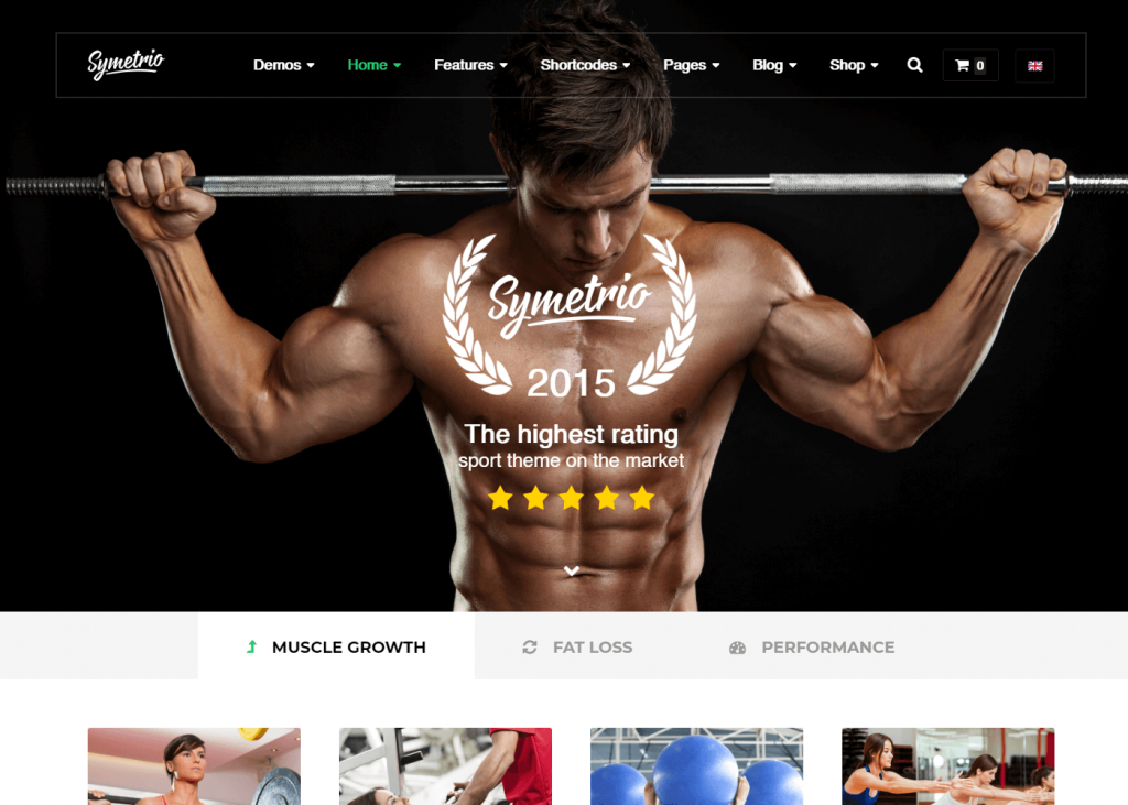 Symetrio: Best WordPress Themes for Gym and Fitness