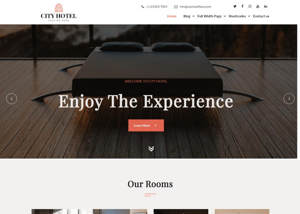 Niwas Resort Hotel: Best Free WordPress Themes for Hotel and Resort