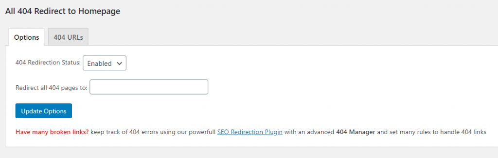 Redirect 404 Pages to Homepage